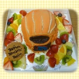 愛用のグローブがケーキに!!