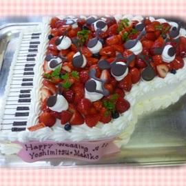 ピアノ型ウエディングケーキ^^