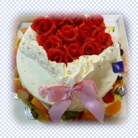 真っ赤なバラの花束ケーキ!
